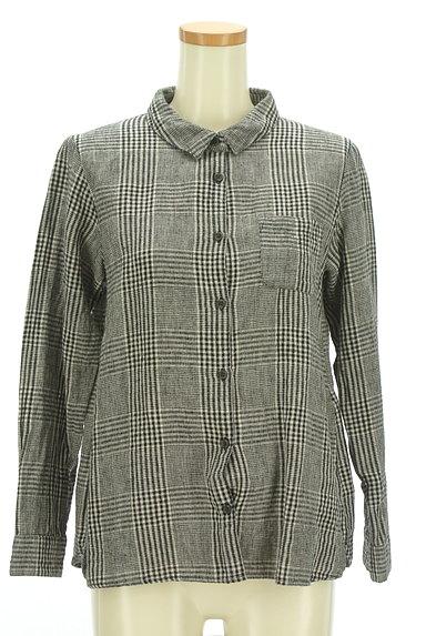 SM2(サマンサモスモス)の古着「コットンリネンチェックシャツ(カジュアルシャツ)」大画像1へ
