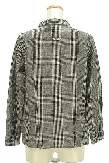 SM2(サマンサモスモス)の古着「コットンリネンチェックシャツ(カジュアルシャツ)」大画像2へ