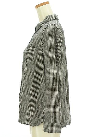 SM2(サマンサモスモス)の古着「コットンリネンチェックシャツ(カジュアルシャツ)」大画像3へ