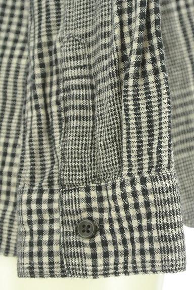 SM2(サマンサモスモス)の古着「コットンリネンチェックシャツ(カジュアルシャツ)」大画像5へ