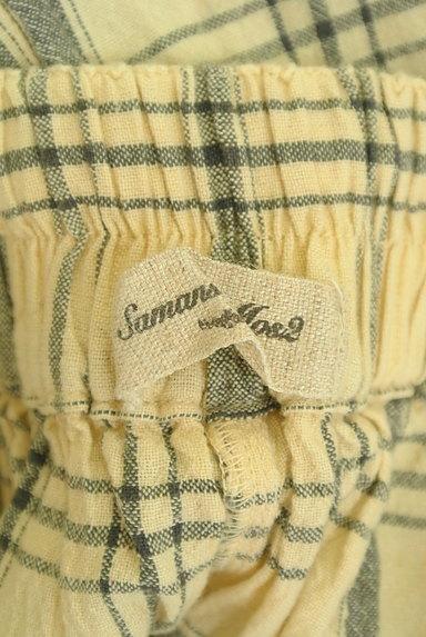 SM2(サマンサモスモス)の古着「ナチュラルチェックのガウチョ(パンツ)」大画像6へ