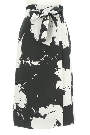 LAUTREAMONT(ロートレアモン)の古着「大人モノトーンラップ風スカート(ロングスカート・マキシスカート)」大画像1へ