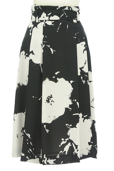 LAUTREAMONT(ロートレアモン)の古着「大人モノトーンラップ風スカート(ロングスカート・マキシスカート)」大画像2へ