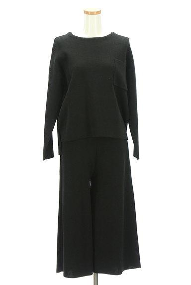 SLOBE IENA(スローブイエナ)の古着「大人のワンカラーニットセットアップ(セットアップ(ジャケット+パンツ))」大画像1へ