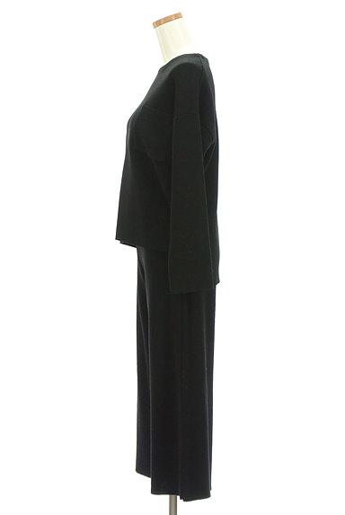 SLOBE IENA(スローブイエナ)の古着「大人のワンカラーニットセットアップ(セットアップ(ジャケット+パンツ))」大画像3へ