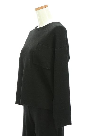 SLOBE IENA(スローブイエナ)の古着「大人のワンカラーニットセットアップ(セットアップ(ジャケット+パンツ))」大画像4へ