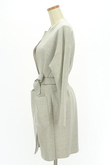 LAUTREAMONT(ロートレアモン)の古着「ウエストリボンノーカラーコート(コート)」大画像3へ