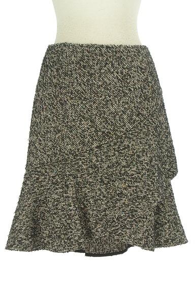 Spick and Span(スピック&スパン)の古着「裾フリルミックスウールミニスカ(ミニスカート)」大画像1へ