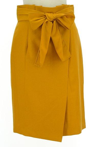 JUSGLITTY(ジャスグリッティー)の古着「ラップ風カラータイトスカート(スカート)」大画像1へ