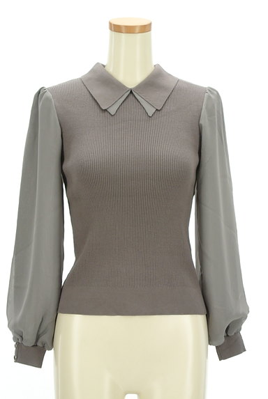Rirandture(リランドチュール)の古着「襟付きシフォン袖リブニット(ニット)」大画像1へ