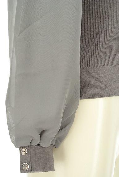 Rirandture(リランドチュール)の古着「襟付きシフォン袖リブニット(ニット)」大画像5へ