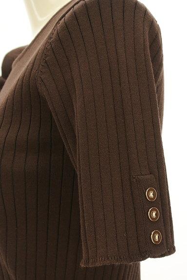 Viaggio Blu(ビアッジョブルー)の古着「アシメフリル5分袖リブニット(ニット)」大画像5へ