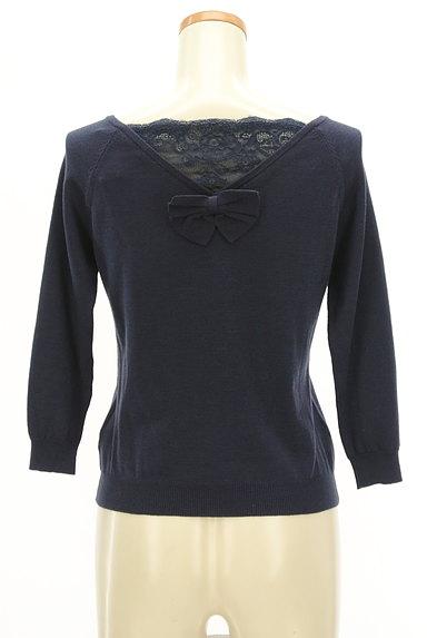 WILLSELECTION(ウィルセレクション)の古着「レース&リボンの7分袖ニット(ニット)」大画像2へ