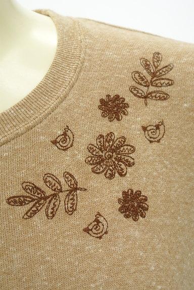 drug store's(ドラッグストアーズ)の古着「裾別地の花刺繍カットソー(カットソー・プルオーバー)」大画像4へ