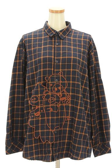 drug store's(ドラッグストアーズ)の古着「ひょっこりキャラのゆったりシャツ(カジュアルシャツ)」大画像1へ