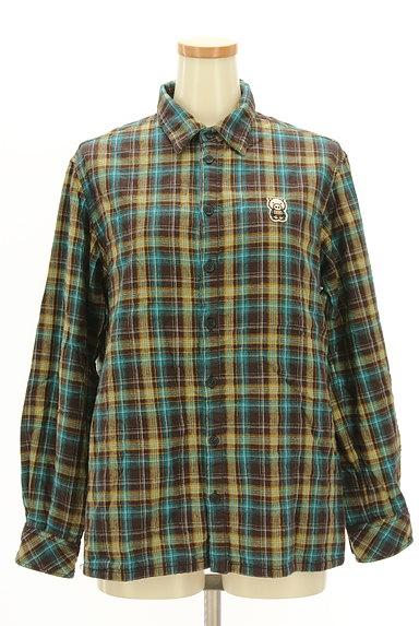 drug store's(ドラッグストアーズ)の古着「刺繍ロゴチェック柄シャツ(カジュアルシャツ)」大画像1へ