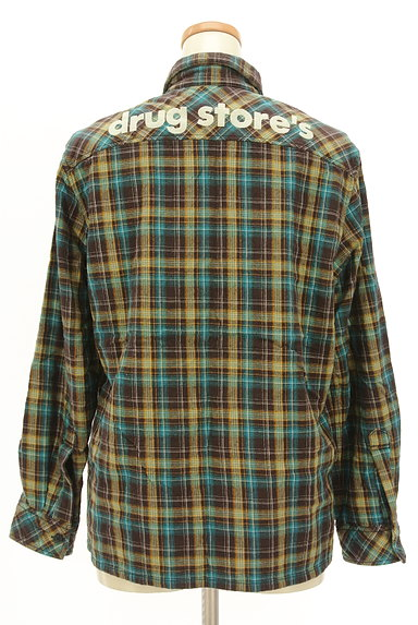 drug store's(ドラッグストアーズ)の古着「刺繍ロゴチェック柄シャツ(カジュアルシャツ)」大画像2へ