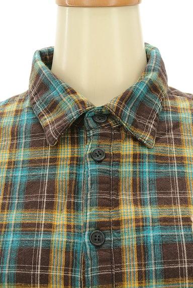 drug store's(ドラッグストアーズ)の古着「刺繍ロゴチェック柄シャツ(カジュアルシャツ)」大画像4へ
