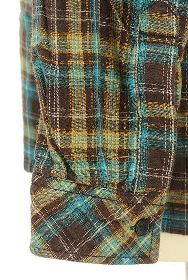 drug store's(ドラッグストアーズ)の古着「刺繍ロゴチェック柄シャツ(カジュアルシャツ)」大画像5へ