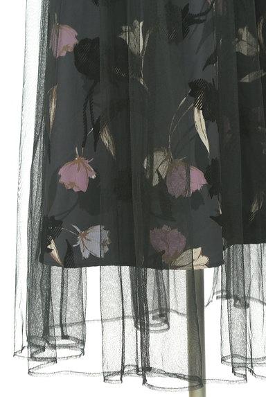JILL by JILLSTUART(ジルバイジルスチュアート)の古着「花柄チュールロングワンピース(ワンピース・チュニック)」大画像5へ