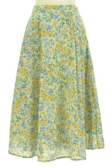 Te chichi(テチチ)の古着「ミモレ丈花柄フレアスカート(ロングスカート・マキシスカート)」大画像1へ