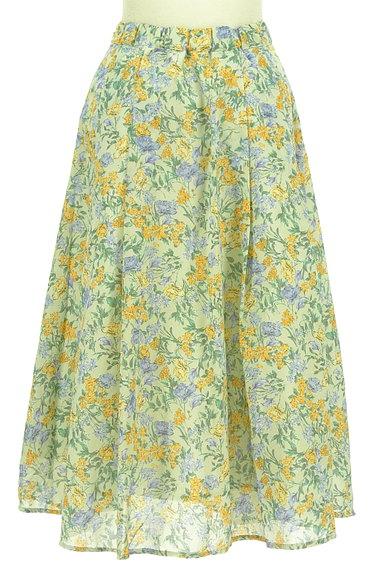 Te chichi(テチチ)の古着「ミモレ丈花柄フレアスカート(ロングスカート・マキシスカート)」大画像2へ
