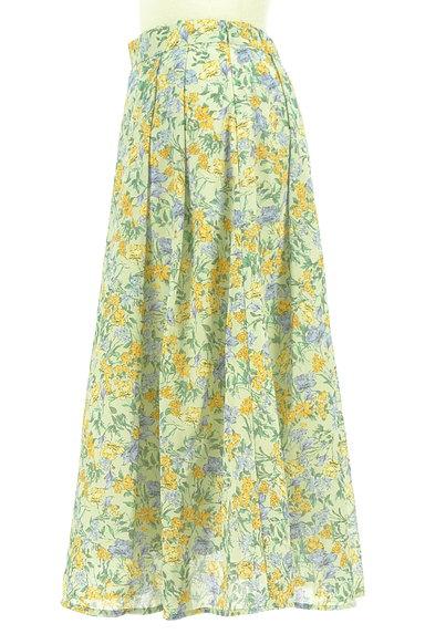 Te chichi(テチチ)の古着「ミモレ丈花柄フレアスカート(ロングスカート・マキシスカート)」大画像3へ