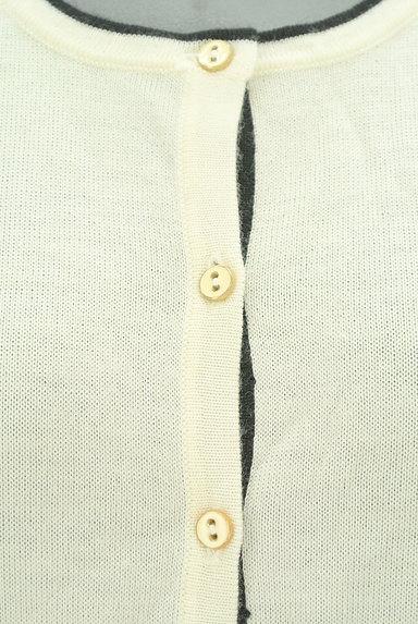 CLEAR IMPRESSION(クリアインプレッション)の古着「黒ラインシンプルカーディガン(カーディガン・ボレロ)」大画像4へ