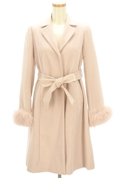 LAISSE PASSE(レッセパッセ)の古着「ふわふわファー袖ロングコート(コート)」大画像1へ