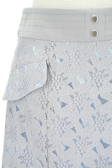 MISCH MASCH(ミッシュマッシュ)の古着「膝下丈花レースフレアスカート(ロングスカート・マキシスカート)」大画像4へ