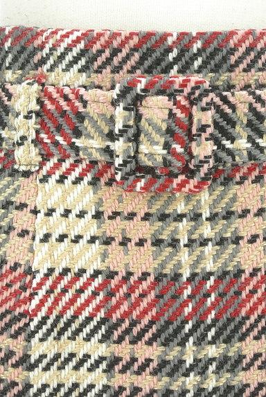 MISCH MASCH(ミッシュマッシュ)の古着「ベルト付きチェック柄膝下丈起毛タイトスカート(スカート)」大画像4へ