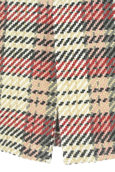 MISCH MASCH(ミッシュマッシュ)の古着「ベルト付きチェック柄膝下丈起毛タイトスカート(スカート)」大画像5へ