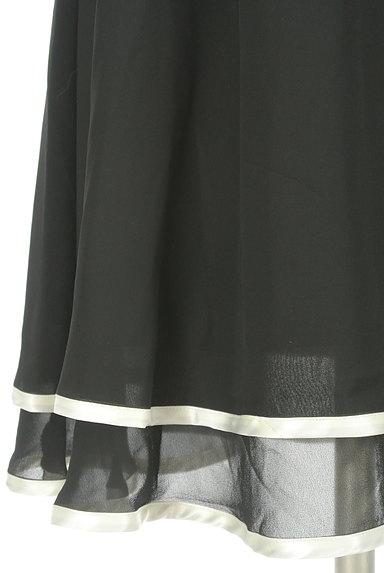 LAISSE PASSE(レッセパッセ)の古着「バイカラー膝丈シフォンキャミワンピ(キャミワンピース)」大画像5へ