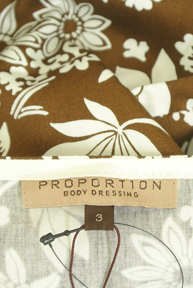 PROPORTION BODY DRESSING(プロポーションボディ ドレッシング)の古着「ウエストリボン膝下丈花柄ラップワンピ(キャミワンピース)」大画像6へ