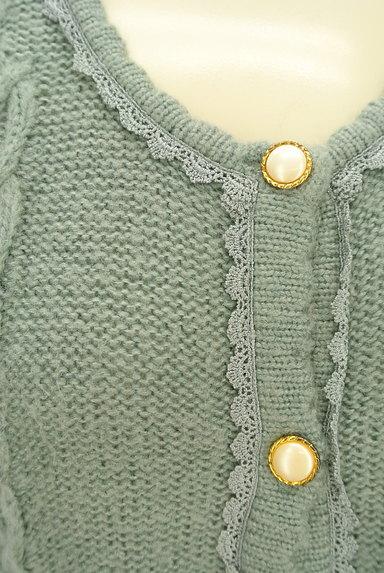 axes femme(アクシーズファム)の古着「刺繍入りケーブル編みカーディガン(カーディガン・ボレロ)」大画像4へ