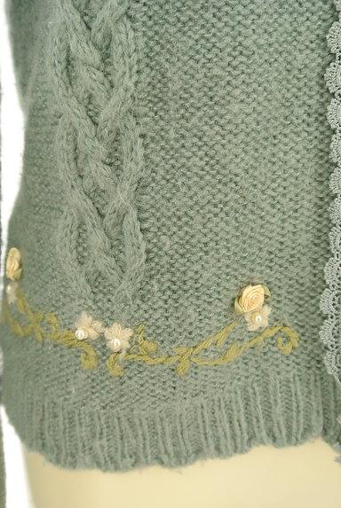 axes femme(アクシーズファム)の古着「刺繍入りケーブル編みカーディガン(カーディガン・ボレロ)」大画像5へ