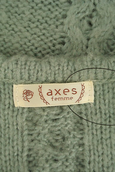 axes femme(アクシーズファム)の古着「刺繍入りケーブル編みカーディガン(カーディガン・ボレロ)」大画像6へ