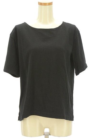 NATURAL BEAUTY BASIC(ナチュラルビューティベーシック)の古着「シンプルサイドスリットTシャツ(Tシャツ)」大画像1へ