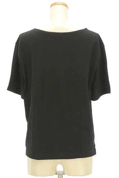 NATURAL BEAUTY BASIC(ナチュラルビューティベーシック)の古着「シンプルサイドスリットTシャツ(Tシャツ)」大画像2へ