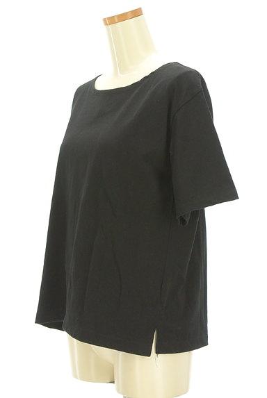 NATURAL BEAUTY BASIC(ナチュラルビューティベーシック)の古着「シンプルサイドスリットTシャツ(Tシャツ)」大画像3へ