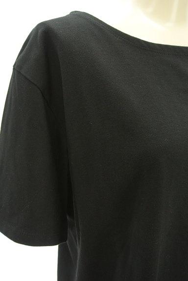 NATURAL BEAUTY BASIC(ナチュラルビューティベーシック)の古着「シンプルサイドスリットTシャツ(Tシャツ)」大画像4へ