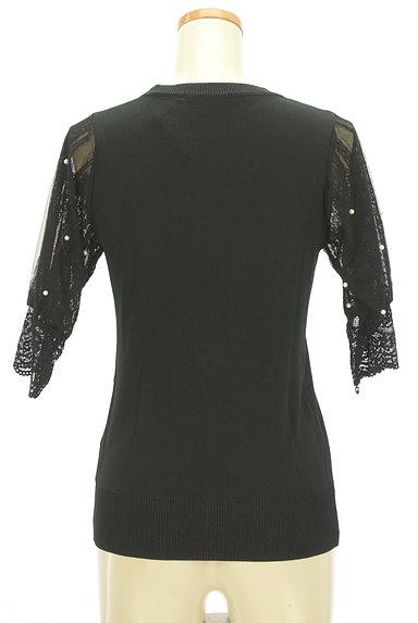axes femme(アクシーズファム)の古着「パール付きレース五分袖ニット(ニット)」大画像2へ