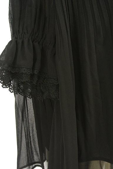 axes femme(アクシーズファム)の古着「フリルネックシフォンプリーツカットソー(ブラウス)」大画像5へ