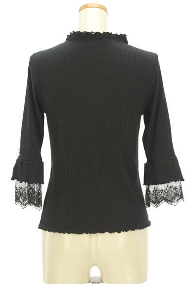 axes femme(アクシーズファム)の古着「袖口刺繍レース七分袖リブニット(ニット)」大画像2へ