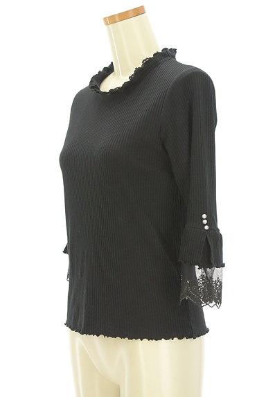 axes femme(アクシーズファム)の古着「袖口刺繍レース七分袖リブニット(ニット)」大画像3へ