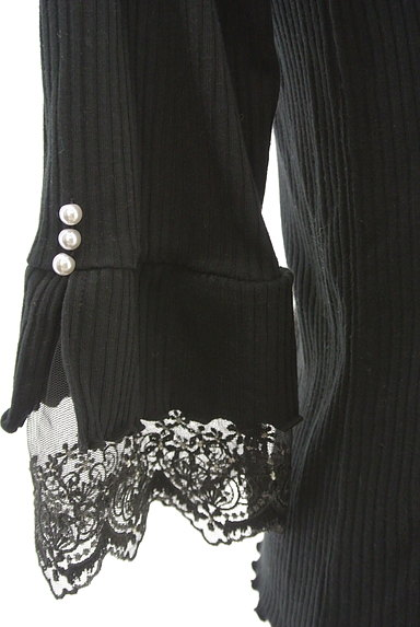 axes femme(アクシーズファム)の古着「袖口刺繍レース七分袖リブニット(ニット)」大画像5へ