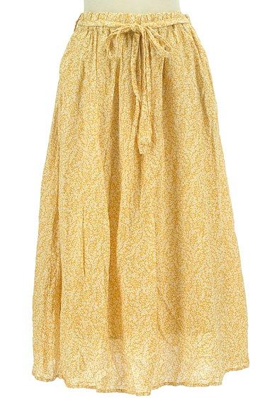 SM2(サマンサモスモス)の古着「ウエストリボン小花柄フレアスカート(ロングスカート・マキシスカート)」大画像1へ