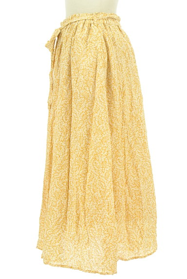 SM2(サマンサモスモス)の古着「ウエストリボン小花柄フレアスカート(ロングスカート・マキシスカート)」大画像3へ
