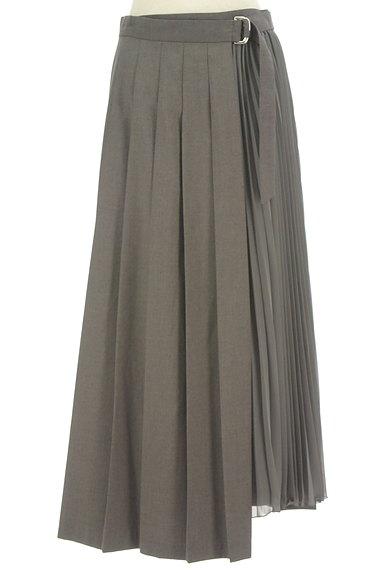 LOUNIE(ルーニィ)の古着「サイドシフォンプリーツアシメロングスカート(ロングスカート・マキシスカート)」大画像1へ