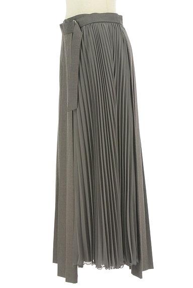 LOUNIE(ルーニィ)の古着「サイドシフォンプリーツアシメロングスカート(ロングスカート・マキシスカート)」大画像3へ